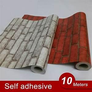10M Back with Glue Vinyl Self Adhesive Wallpaper PVC Wall ...