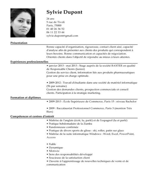 Cv De Travail Exemple by Exemples De Cv Mod 232 Les De Cv Exemples Cv Gratuit