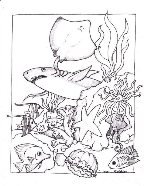 free printable ocean coloring pages for kids sand