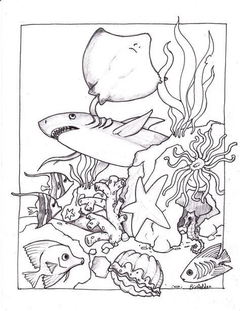printable ocean coloring pages  kids sand
