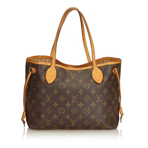 louis vuitton brown monogram neverfull pm  stdibs