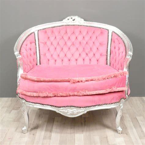 sofa canape baroque sofa pink bronze statue