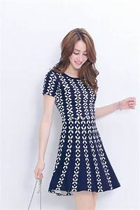 YOCO Womens Printed Short Sleeve Dress with Cinched Waist ...