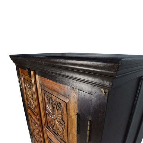 Wooden Armoire 74 Large Carved Wooden Armoire Storage