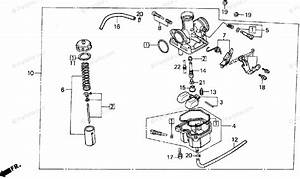 Honda Atv 1995 Oem Parts Diagram For Carburetor