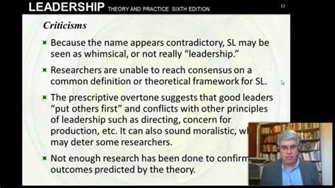 servant leadership northouse  chpt  youtube