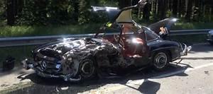 Mercedes 300 Sl A Vendre : une mercedes benz 300 sl gullwing se crashe pendant le mille miglia ~ Gottalentnigeria.com Avis de Voitures