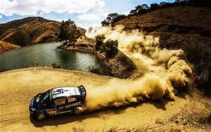 Fonds d'écran Télécharger 1920x1200 Ford Fiesta Rallye WRC, voiture, la poussière Fond HD