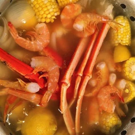 how to boil crab legs in a pot seafood boil for two norine s nest