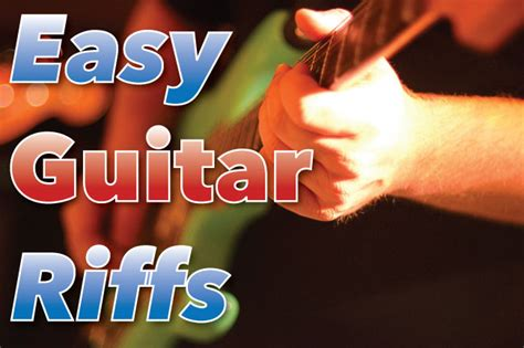 Easy Guitar Riffs With Power Chords & Arpeggios