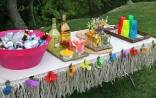 glorious treats parties 30th birthday luau party