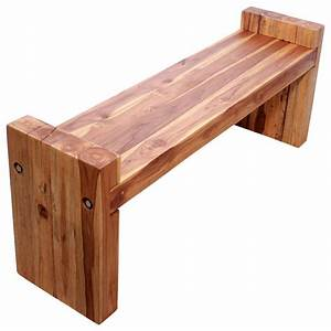 Farmed Teak Block Bench 48 x 12 x 19 inch Ht Seat = 16 KD