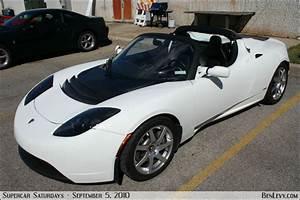 White Tesla Roadster - BenLevy.com