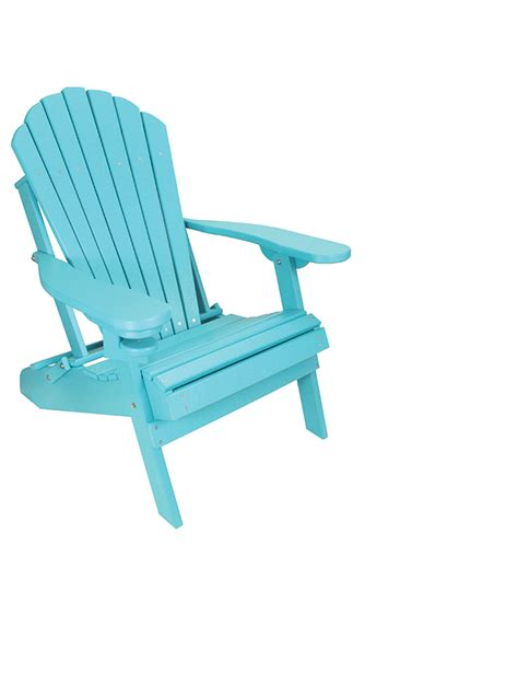 outer banks poly lumber folding adirondack chair