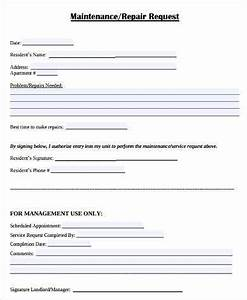 Equipment Repair Form Template Free 10 Sample Maintenance Request Forms In Pdf Ms Word
