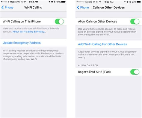 wifi calling iphone verizon how to enable wi fi calling in ios 9 3 for verizon at t