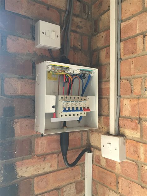 Updating The Garage Shed Consumer Unit Case Young