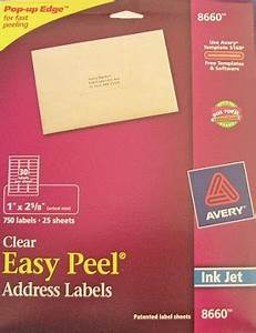 avery clear inkjet address labels 25 sheets 1 x 2 5 8 8660 With clear printable address labels