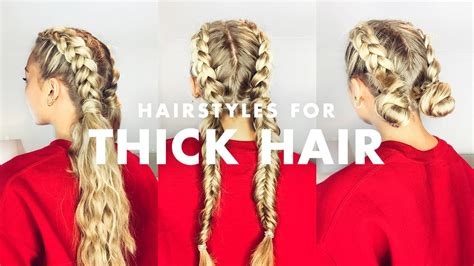 deal  thick hair  easy hairstyles youtube