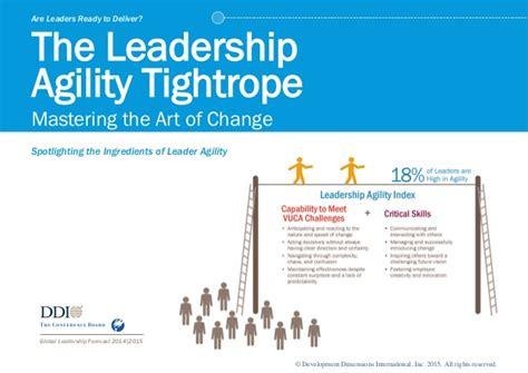 leadership agility tightrope mastering  art  change