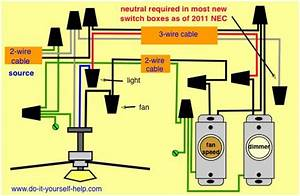 2wire Switch Wiring Diagram Ceiling Fan Light : wiring diagram fan light source at the fixture ~ A.2002-acura-tl-radio.info Haus und Dekorationen