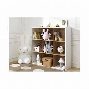 Rangement Chambre Enfants : bibliotheque 9 cases de rangement blanc 100x100x35 tomablcm13c ~ Melissatoandfro.com Idées de Décoration