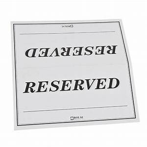 7 best images of printable reserved table signs free With table reservation card template