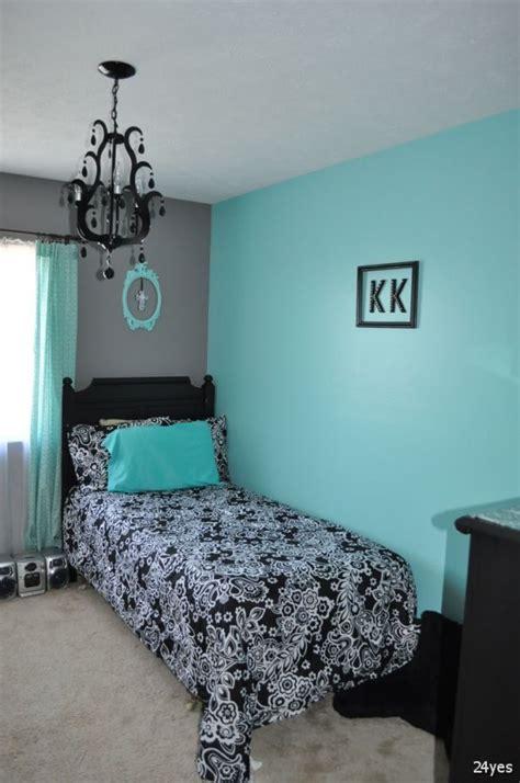 black white  aqua bedroom dark grey  teal bedroom