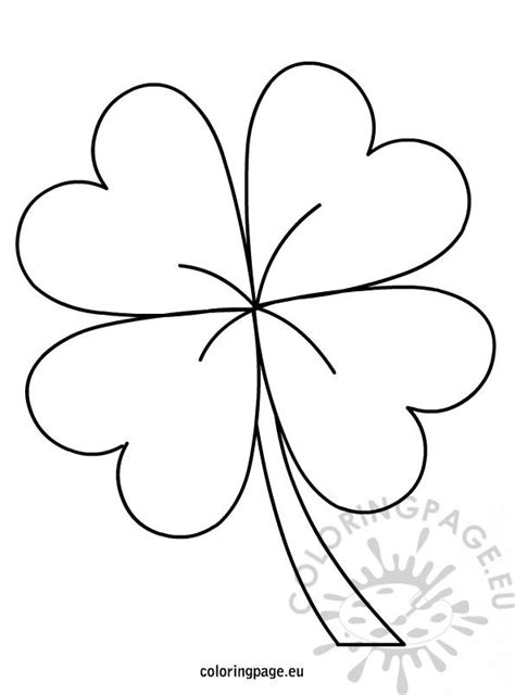 leaf clover coloring page