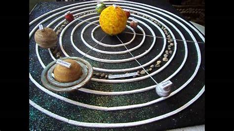 maqueta sistema planetario solar con movimiento ciencias