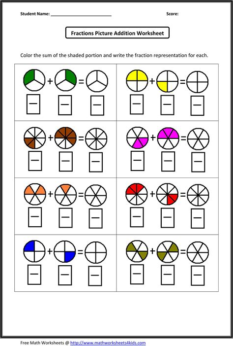 Fraction Addition Worksheets  What's New  Pinterest  Addition Worksheets, Worksheets And Math