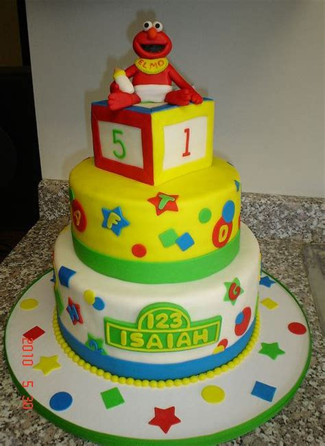 sesame baby shower cake baby elmo theme 3 tier baby shower cake jpg