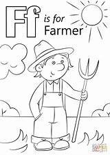 Farm Letter Farmer Coloring Scene Printable Animals Animal Preschool Crafts Sheets Alphabet Letters Ff Activities Fall Select Friends Pluspng Craft sketch template