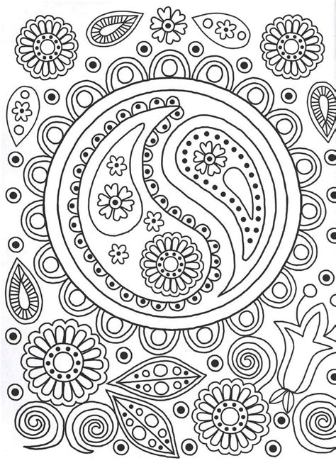 ying  colouring page patterns colouring book art