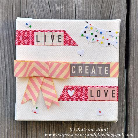 paper scissors  glue love  tapes washi scrapbook