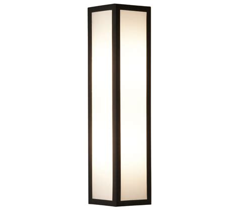 astro salerno led outdoor wall light textured black