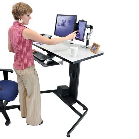 ergotron workfit d sit stand desk bras pied ergotron sur ldlc