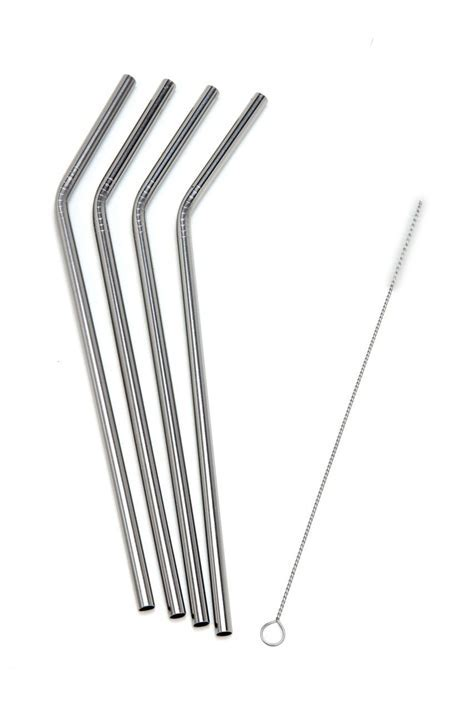 Straight Stainless Steel Frozen Drinking Straws Extra
