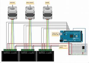 Illustration Of An Arduino Mega 2560 Setup With Stepper