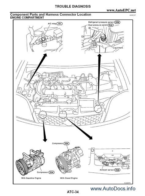 nissan  trail  series service manual repair manual