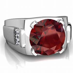 garnet men39s ring r1822 wgrnt With garnet mens wedding rings