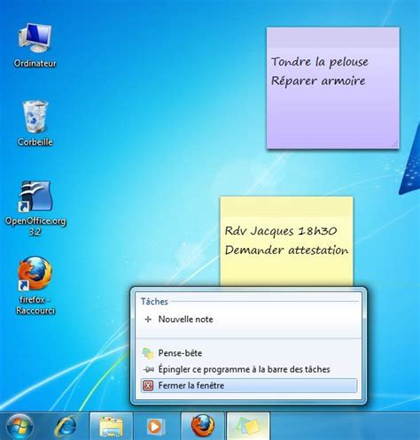 telecharger un bloc note pour le bureau afficher des post it sur un ordinateur windows 7