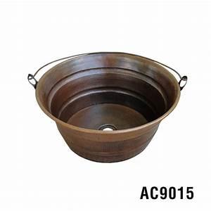 """16"""" Bucket Vessel Copper Sink Item AC9015"""