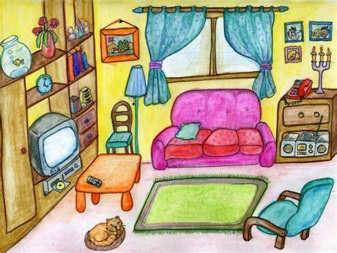 table canapé vocabulaire salle de séjour