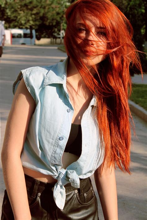 redhead, Women, Women Outdoors, Long Hair, Hair In Face ...