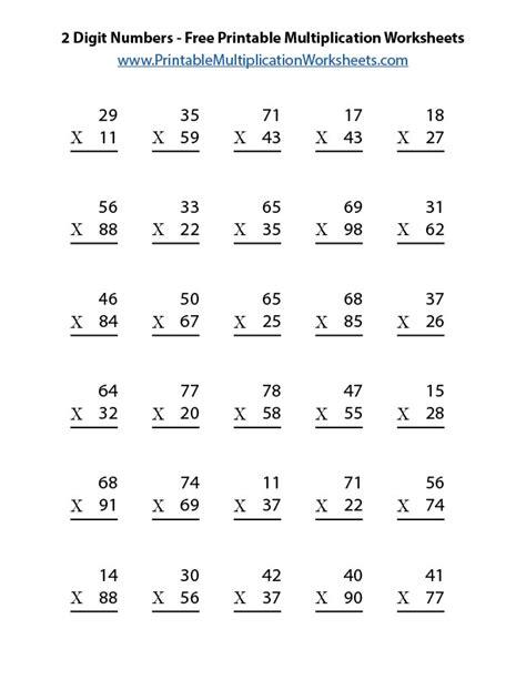 3 digit numbers free printable multiplication worksheets