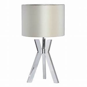 metal tripod 1 light table lamp with pearl shade chrome With table lamp urbanspoon