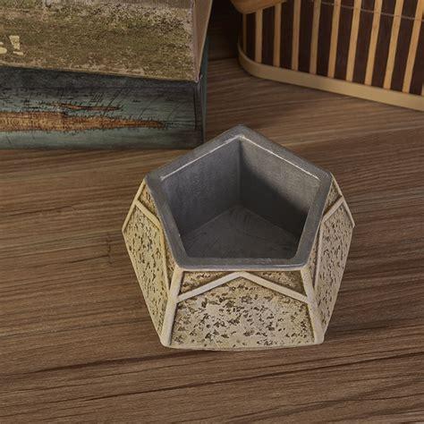 concrete ceramic 200ml fl 7oz vintage five pointed star shaped concrete cement ceramic candle containers for decor