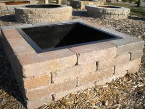 Square Outdoor Fire Pit Designs