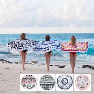 Serviette De Plage Ronde Coton : achetez en gros serviette de plage ronde en ligne des grossistes serviette de plage ronde ~ Teatrodelosmanantiales.com Idées de Décoration